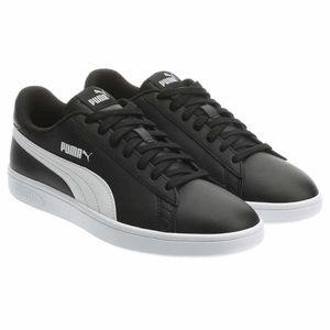 Puma Men's Smash Leather Sneaker Shoes - Black